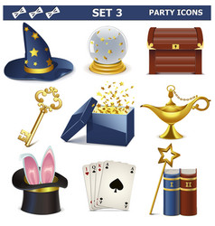 Party Icons Set 3 vector image vector image