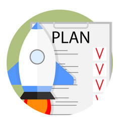 Plan start up strategy and tactics vector