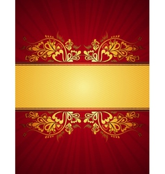 red antique background vector image vector image