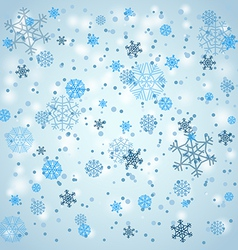 Snowfall in winter vector image vector image