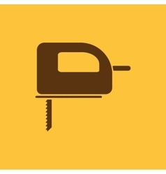 The fretsaw icon fretsaw symbol flat vector