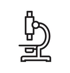 Thin line microscope icon vector
