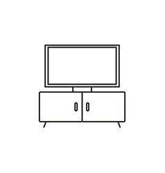 tv stand icon vector image