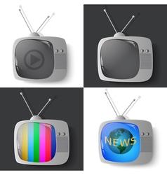 vintage TV set vector image