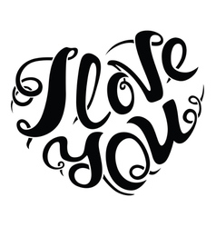 I love you lettering composition vector