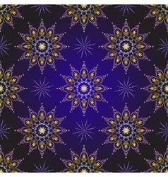 Seamless dark violet vintage christmas pattern vector image
