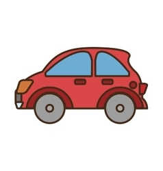 Car vehicle isolated icon vector