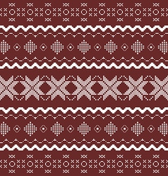Nordic knitted seamless pattern vector image