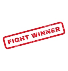 Fight winner text rubber stamp vector