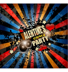 Valentines day party invitation flyer background vector