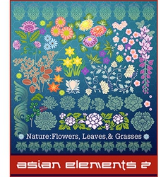 Asian elements vector