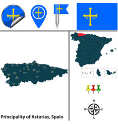 principality of asturias spain vector image