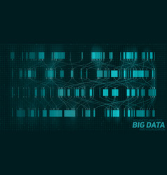 Big data blue visualization vector