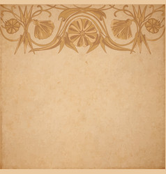 Flower parchment background vector