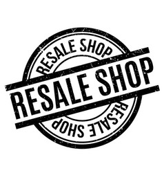Resale shop rubber stamp vector