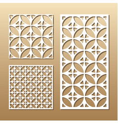 Geometric laser cutting vector