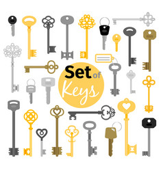 Antique and modern keys vector