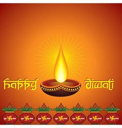 Diwali greeting background vector