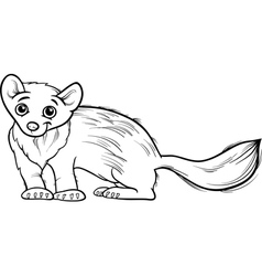 Marten animal cartoon coloring book vector