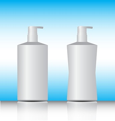 White pump bottle vector