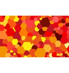 Abstract color hexagon background vector