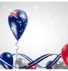 Australian flag on balloon vector