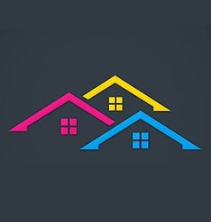 home realty colorful logo vector image