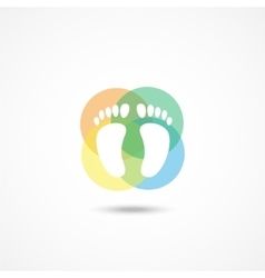 Foot icon vector image