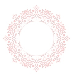 Baby pink mandala circle rosette card template vector image