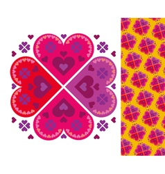 Simple heart pattern vector