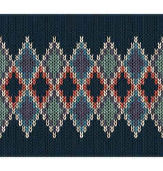 Style seamless color knitted pattern vector