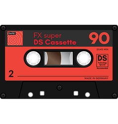 Vintage audio cassette tape vector