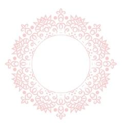 Baby pink mandala circle rosette card template vector