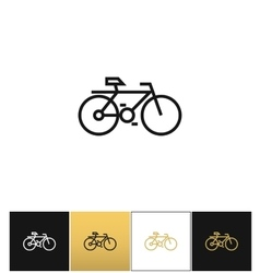 Bicycle line symbol or travel velocity bike vector image