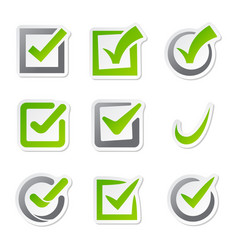 Check box icons of vote mark sign choice yes vector