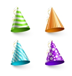 Child party hats isolated on transparent vector