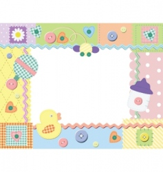child photo frame vector image vector image