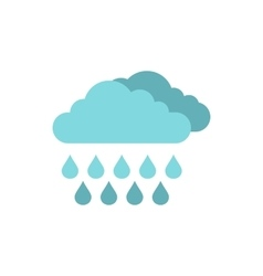 Clouds and rain icon flat style vector image vector image