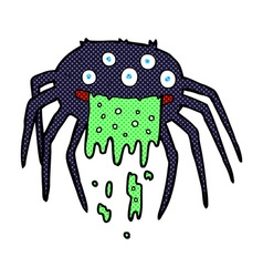 comic cartoon gross halloween spider vector image vector image