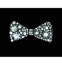 Diamond bow tie vector
