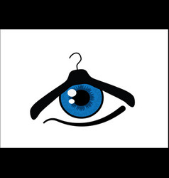 eye for fashion vector image vector image