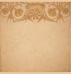 Flower parchment background vector
