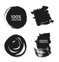 grunge handmade black strokes- backgrounds vector image