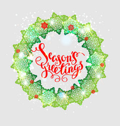 holiday green wreath vector image