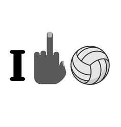 I hate volleyball symbol of hatred and ball vector