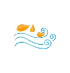 Leaves spinning in the wind icon cartoon style vector