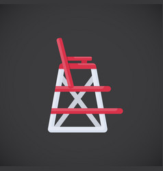 Lifeguard chair flat icon vector
