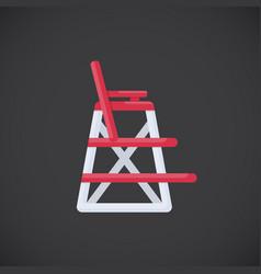 lifeguard chair flat icon vector image vector image