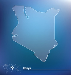 Map of Kenya vector image
