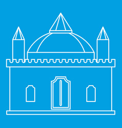 medieval palace icon outline style vector image vector image